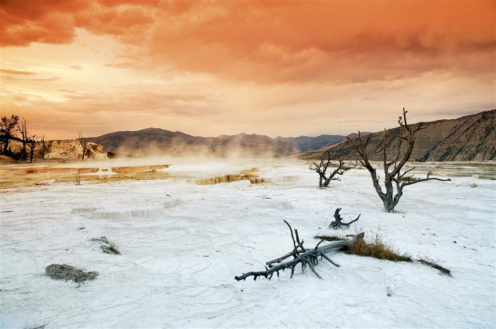 EEA-BJ7328. Mammoth Hot Springs