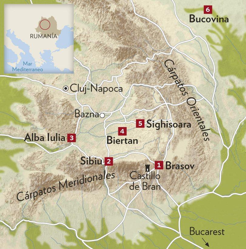 Montes Balcanes Mapa Geografico.Transilvania El Corazon De Los Carpatos