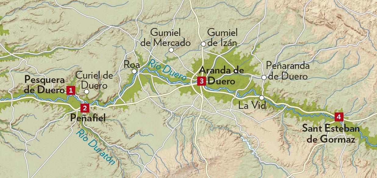 Peñaranda De Duero Mapa.Una Ruta Por La Ribera Del Duero