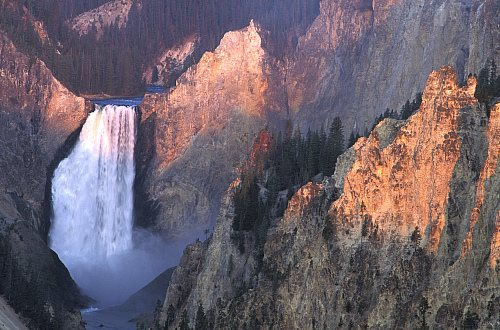 Cascada de Yellowstone. Estados Unidos