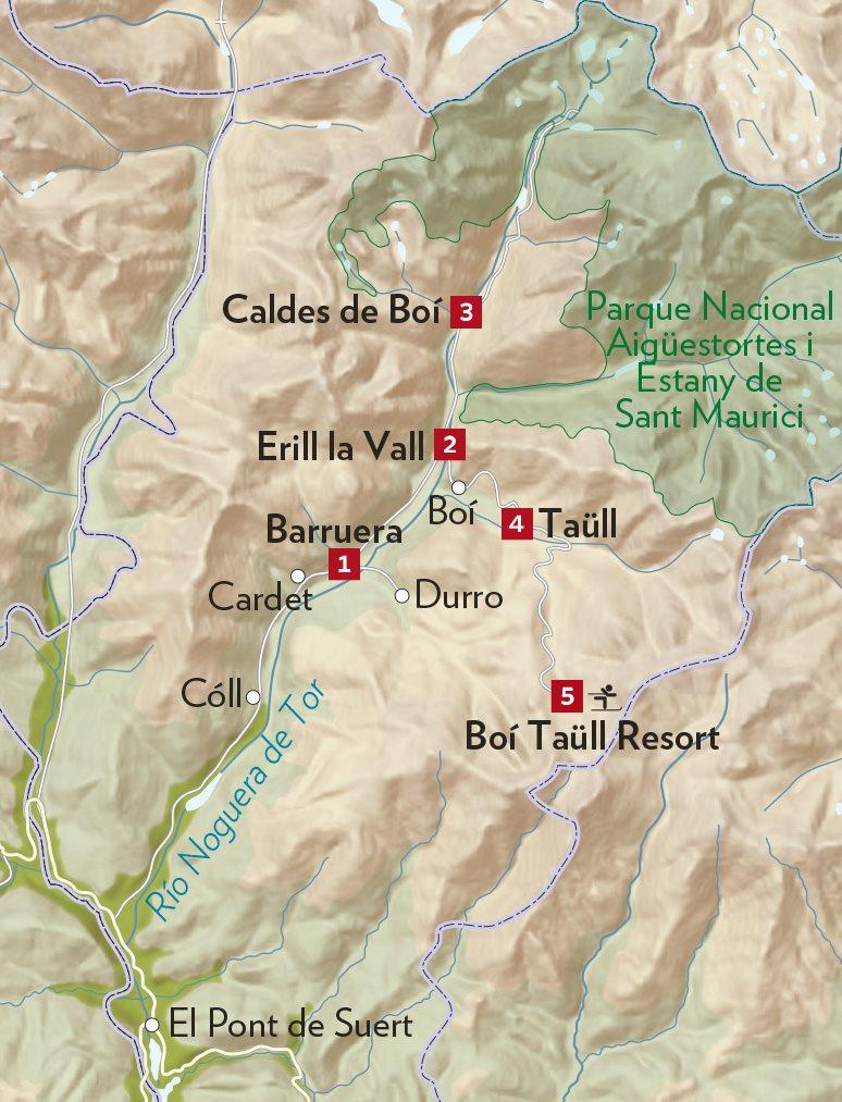 Caldes De Boi Mapa.Tesoros Del Valle De Boi