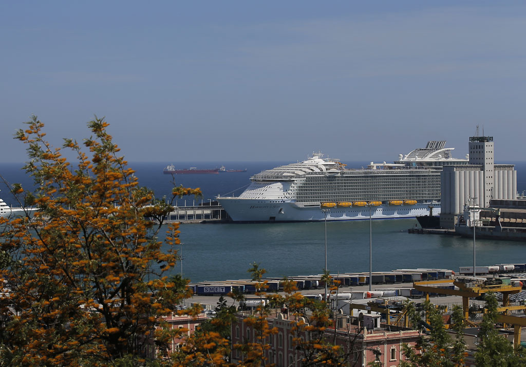 Llegada a Barcelona del Harmony of the Seas
