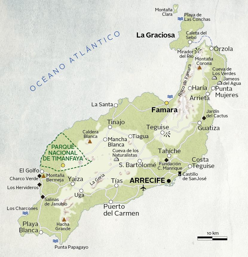 Isla De Lanzarote Mapa.Lanzarote Una Seductora Isla Hecha De Contrastes