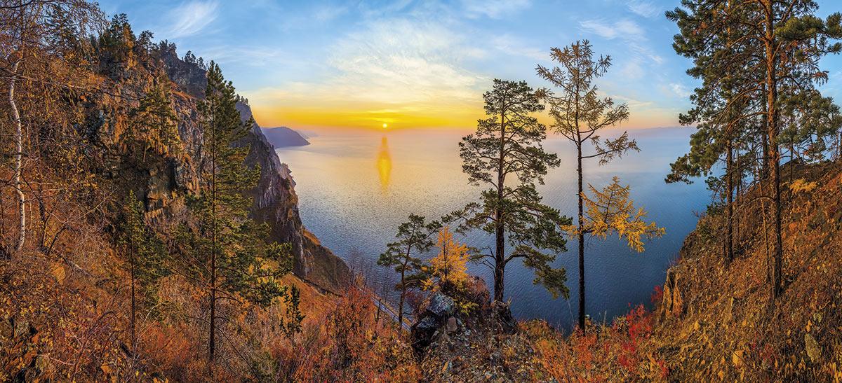 transiberiano-baikal-atardecer. El paso de las estaciones transfigura los paisajes del Baikal