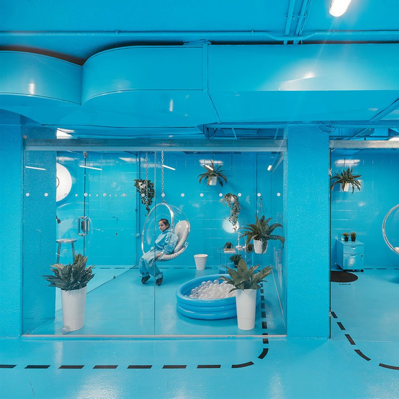 Behind the Scenes, not only a car wash (Burbucar) Arq. Lina Toro Foto Imagen Subliminal OPEN HOUSE MADRID
