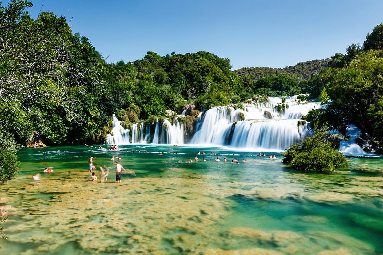 Parque nacional Krka, al alternativa. Parque nacional Krka, la alternativa a Plitvice