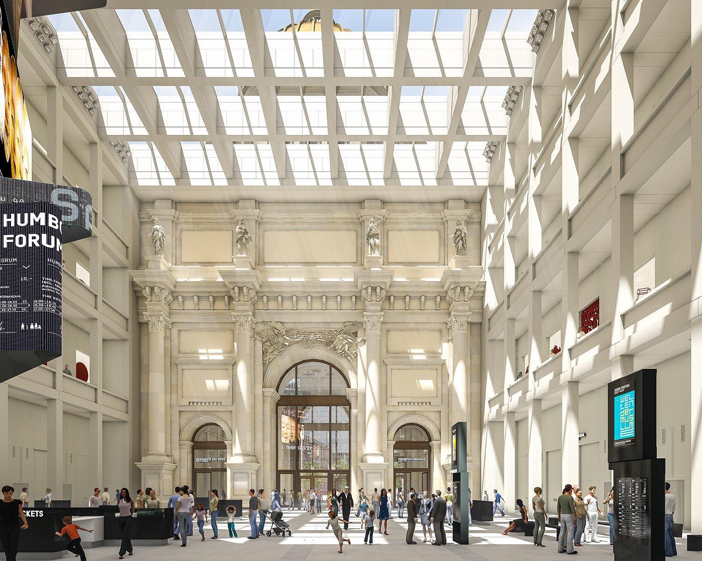 Humboldt-photo SHF Architect- Franco Stella with FS HUF PG20140324 HUF HSA foyer bild1-tag. Humboldt Forum: un nuevo distrito cultural