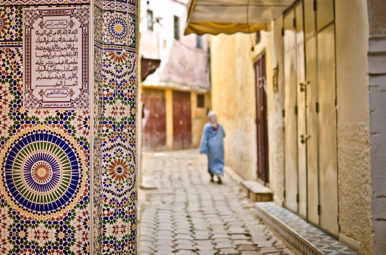 6. calles medina meknes. Ruta de las mezquitas
