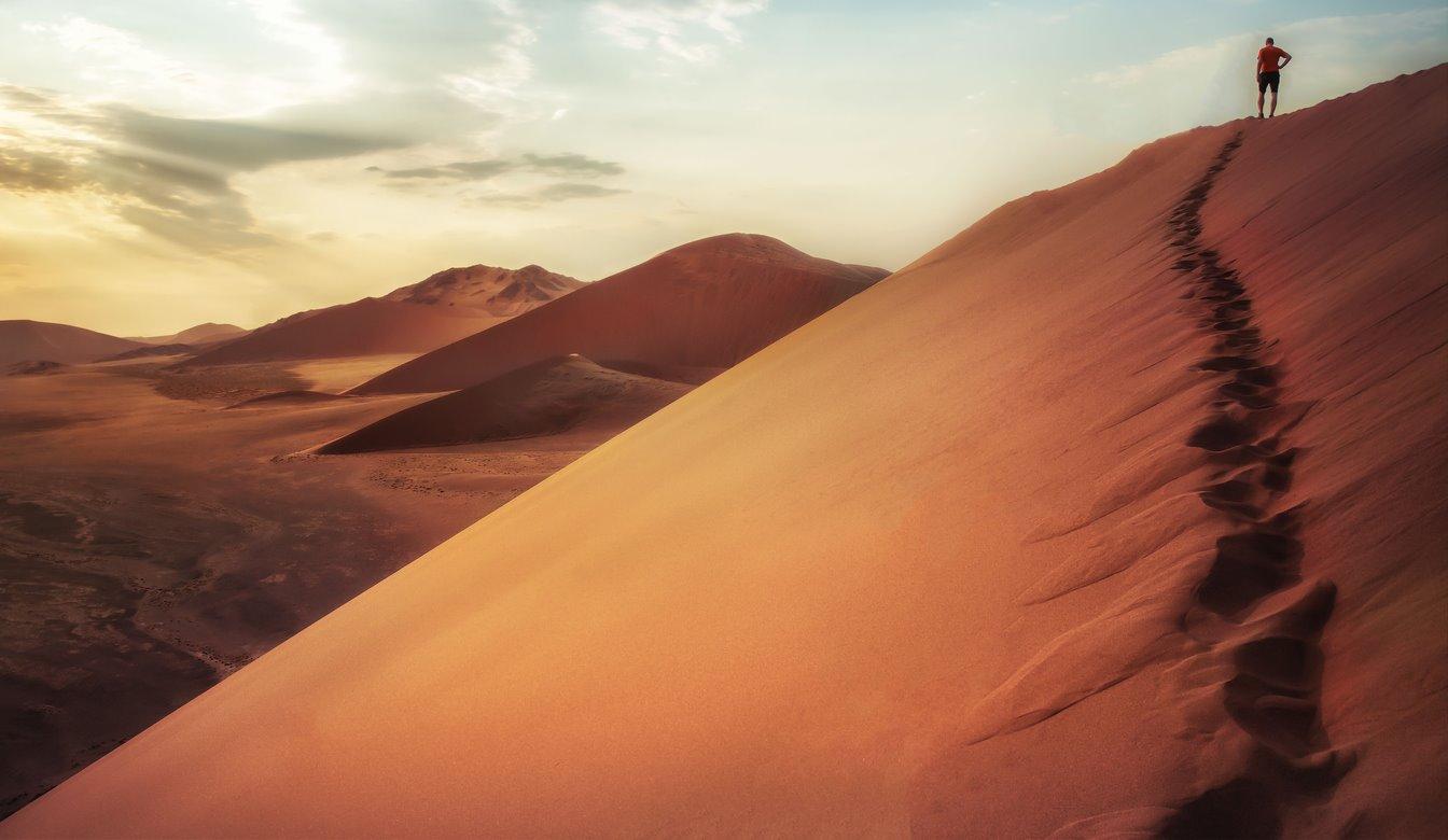 Para una aventura entre las dunas de Namibia...