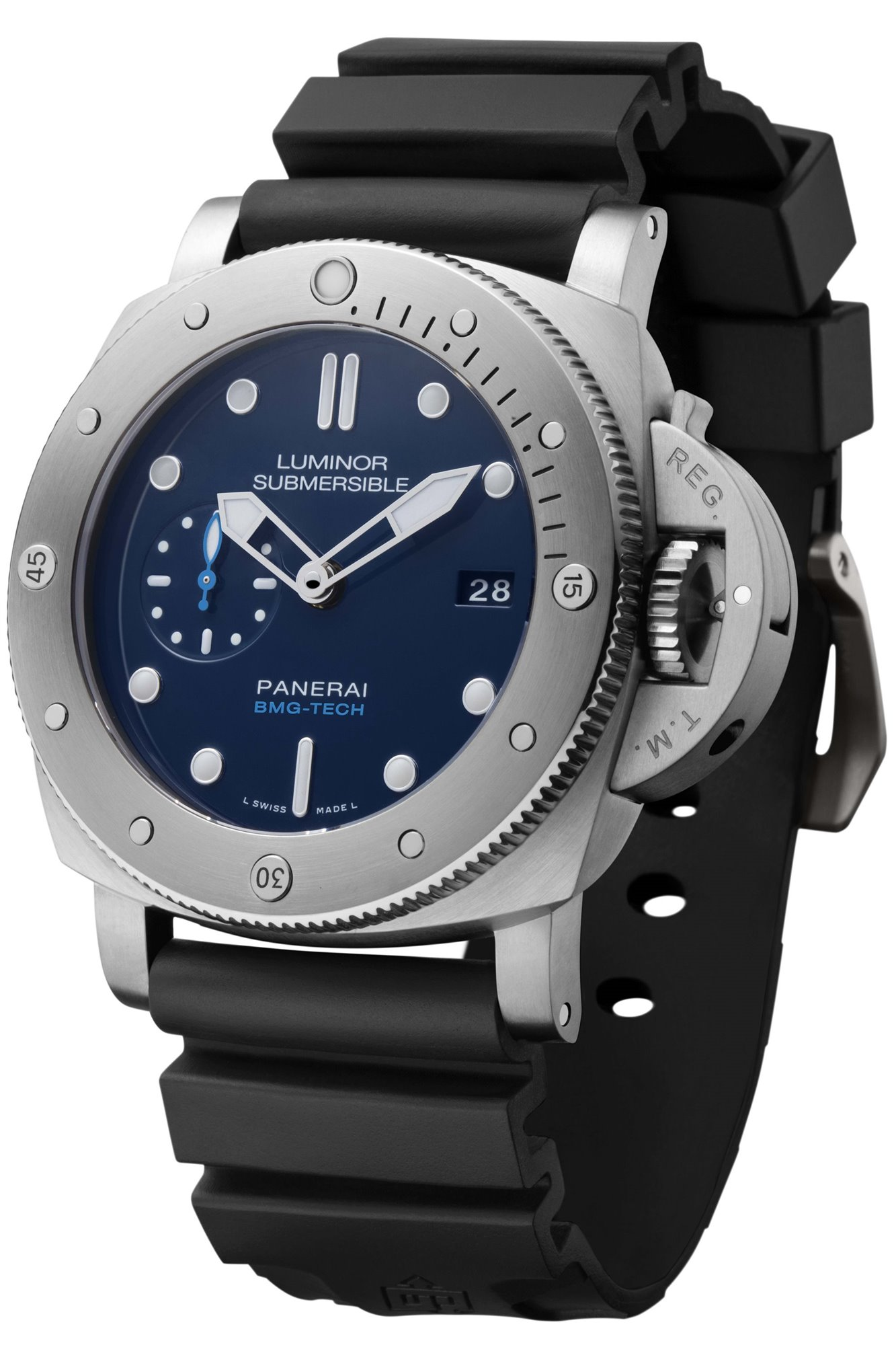 1. Panerai. ...con el Luminor Submersible 1950 BMG-Tech 3 Days Automatic de Panerai
