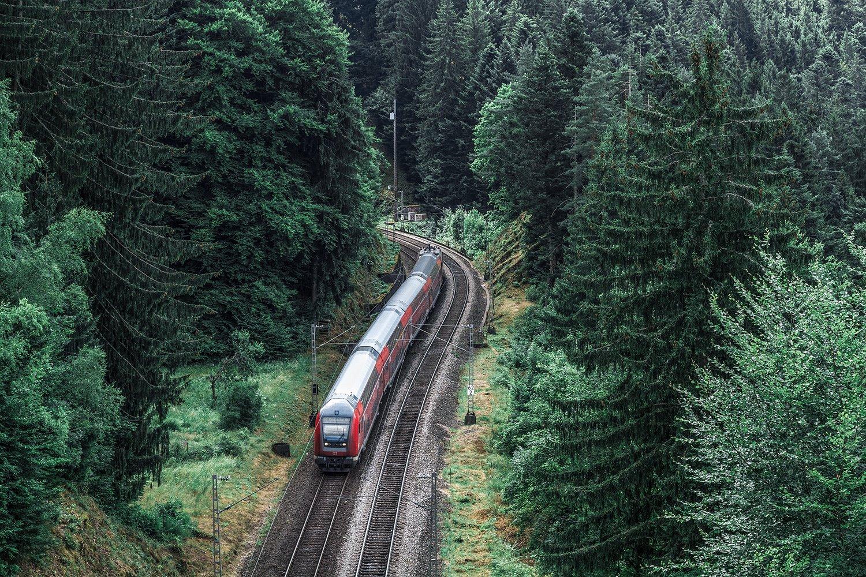 Ferrocarril de la selva negra cerca de Hornberg
