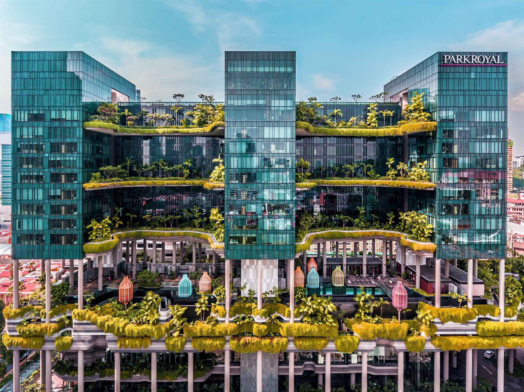 Park Royal. Mejor hotel urbano sostenible: PARKROYAL on Pickering (Singapur)