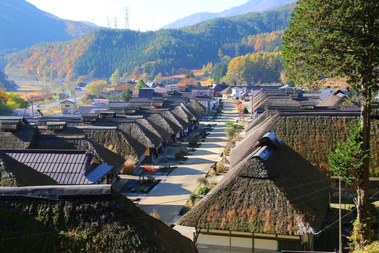 iStock-541985314. Ouchi-Juku y los tejados de paja