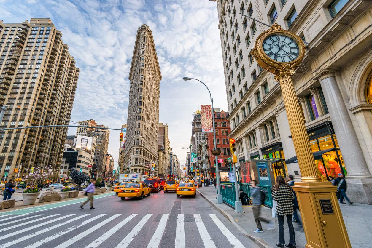 Flatiron. Broadway y 5th Avenue, Nueva York