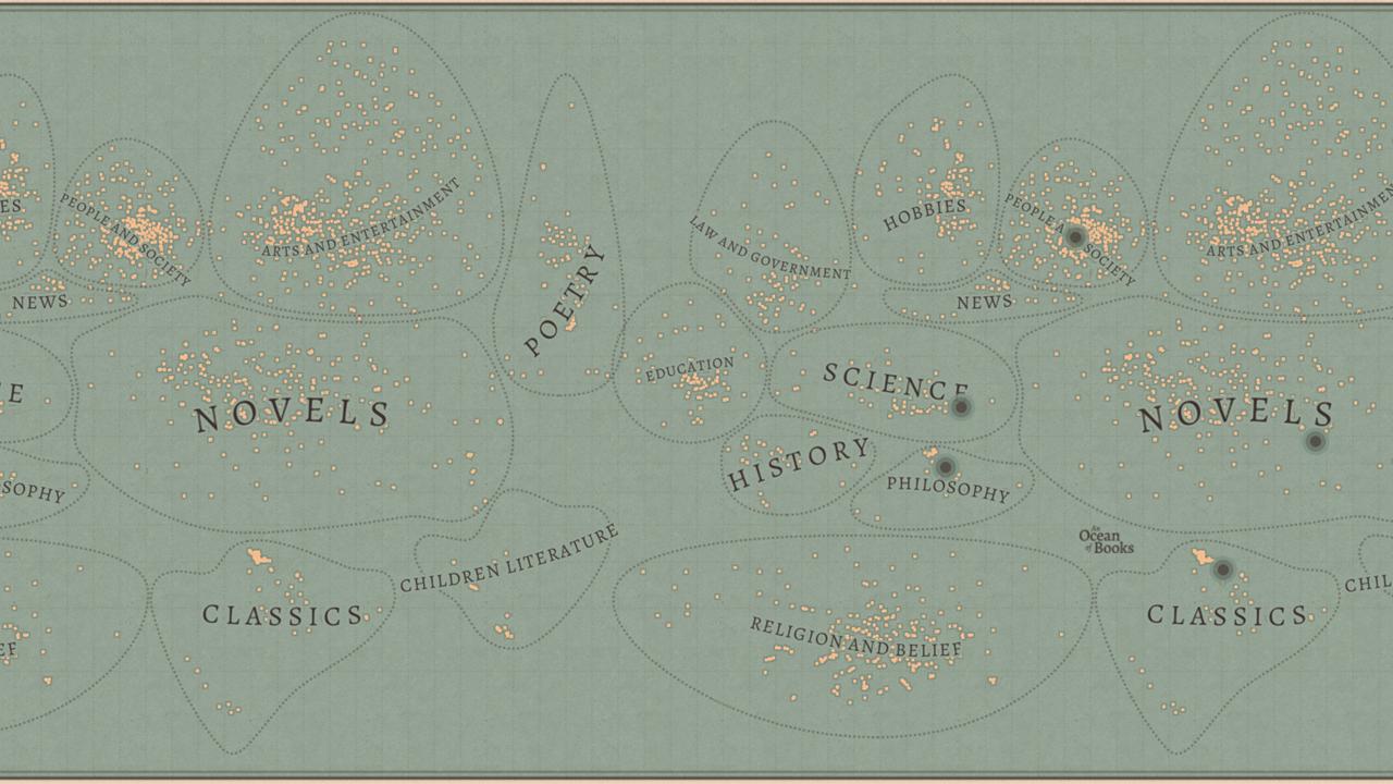 El mapa de Google para viajar a través de los libros