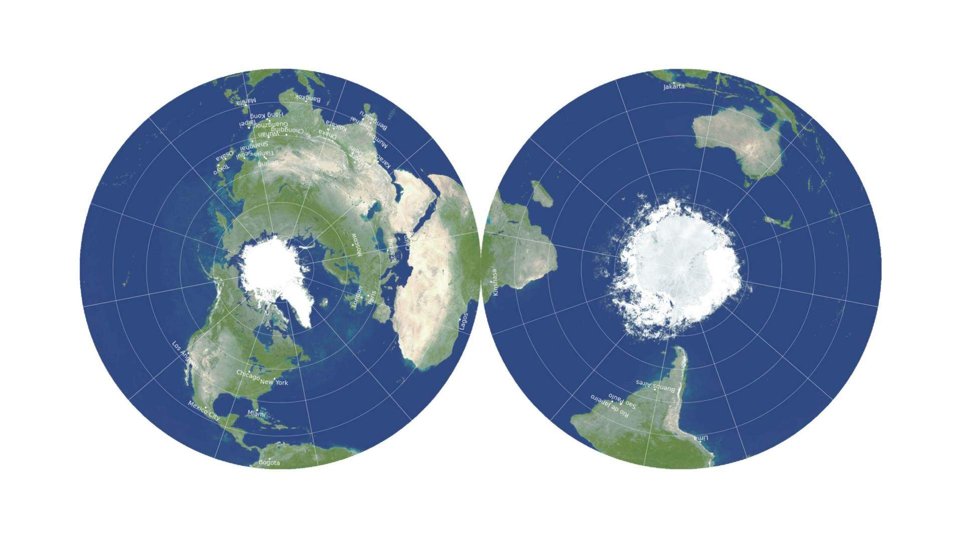 equidistant azimuthal projection